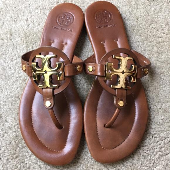 7072f17f2 Tory Burch Miller 2 Royal Tan Leather Sandals 8. M 5b81a37f2830958d54ad222f
